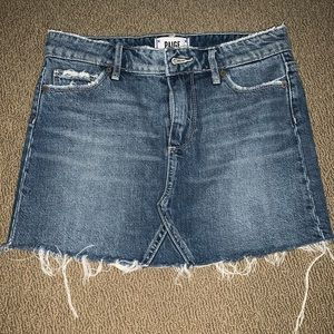 Paige denim jean skirt